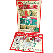 Box 1960s Dimensional Christmas Gift Cards and Package Ties