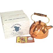 Revere Ware Solid Copper Tea Kettle in Original Box