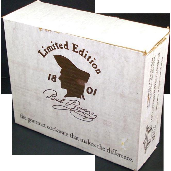 Revere Ware Solid Copper 2 Qt Buffet Casserole Mint in Sealed Box