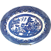 Blue Willow Churchill England Oval Serving Platter, Mint
