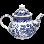 Churchill England Blue Willow Teapot