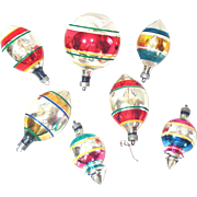 1940s Premier Shapes Glass Christmas Ornaments