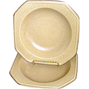 Mikasa California Casuals 2 Rimmed Soup Bowls