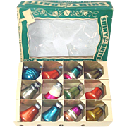 Box Small Shiny Brite 1950s Glass Bell Christmas Ornaments