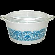 Pyrex Horizon Blue 1 Quart Cinderella Casserole Dish Bowl