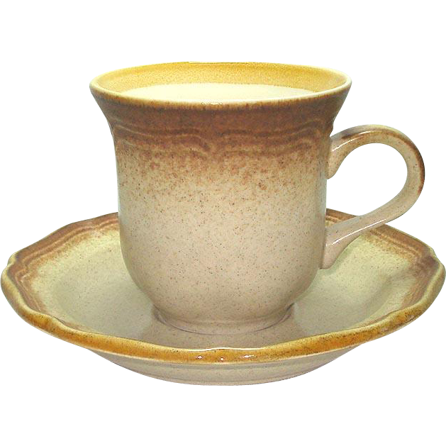 Mikasa Whole Wheat Set 4 Cups and Saucers