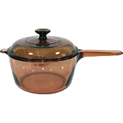 Corning Visions 2.5 Liter Covered Glass Saucepan Pot