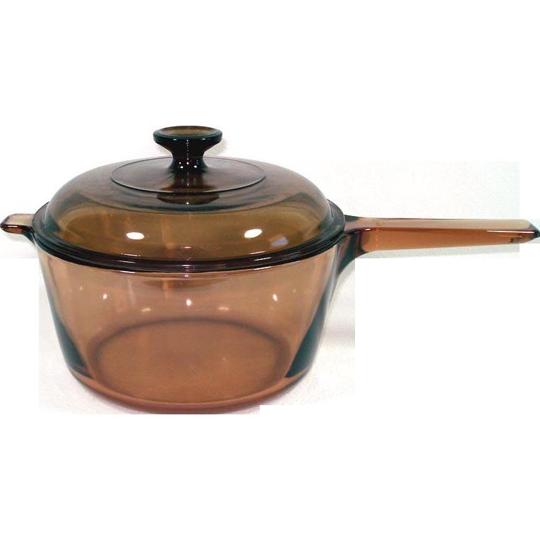 Corning Visions 2.5 Liter Covered Glass Saucepan Pot