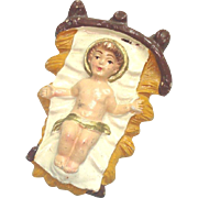 Baby Jesus in Manger Italy Composition Figure for Christmas Nativity