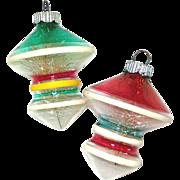 Shiny Brite Unsilvered UFO Glass War Ornaments