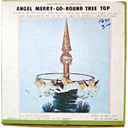 Merry Go Round Angels 1950s Lighted Christmas Tree Topper