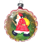Italy Glass Diorama Scene Indent Christmas Ornament Father Christmas