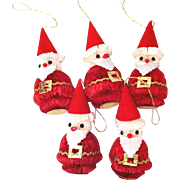 Honeycomb Tissue Paper Santa Christmas Ornaments