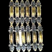 12 Retro Brass Spanish Mediterranean Gothic Cabinet Drawer Pulls