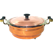 CopperCraft Guild 1950s Copper Buffet Casserole Pyrex Insert