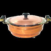 CopperCraft Guild 1950s Copper Buffet Casserole Pyrex Insert