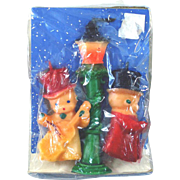 Gurley Street Carolers Christmas Candle Set Mint in Package