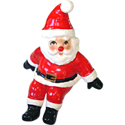 Fitz And Floyd 1976 Tumbling Santa Claus Christmas Figurine