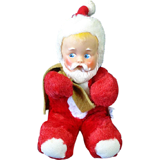 1955 Knickerbocker Stuffed Plush Baby Santa Claus Doll Christmas