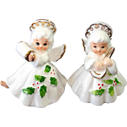 George Good Bone China Musical Christmas Angel Figurines