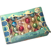 Shiny Brite Box 24 Miniature Glass Christmas Ornaments Multi Color