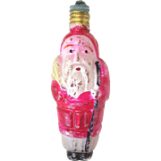 Father Christmas Santa Working Figural C6 Christmas Light Bulb