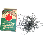 Box 1950s Steel Christmas Ornament Hangers Hooks