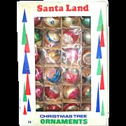 Box 24 Poland Blown Glass Christmas Ornaments