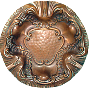 Art Nouveau Repousse Copper Bowl