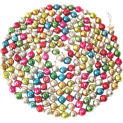 Multi Color Mercury Glass Beaded Christmas Tree Garland
