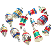Box 1940s Premier Shapes Glass Christmas Ornaments