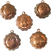 5 Miniature Copper Chocolate or Candy Molds