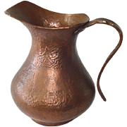 Hand Wrought Hammered Copper Pitcher