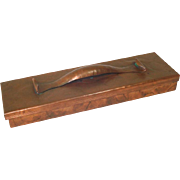 Craftsman Studios Hammered Copper Desk Pencil Box