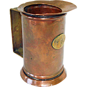 Copper Tankard Spirits Measure 1 Deciliter
