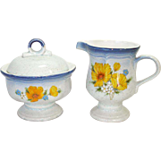 Mikasa Amy Creamer And Sugar Bowl Set