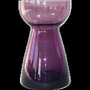 Amethyst Blown Art Glass Hyacinth Vase