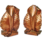 Gregorian Copper Calla Lily Flower Holder Bookends