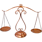 Gregorian Solid Copper Decorative Balance Scales