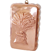 Sheaves of Wheat Copper Kitchen Loaf Mold