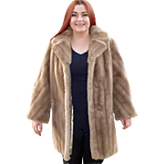 Mincara Faux Fur Honey Mink 3/4 Length Coat