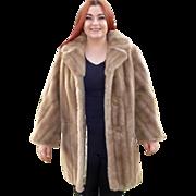Mincara Faux Fur Honey Mink 3/4 Length Coat