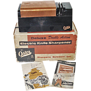 1950s Copper Black Oster Electric Knife Sharpener Original Box