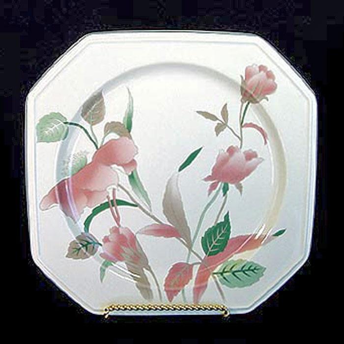 Mikasa Silk Flowers Square Platter