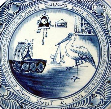 delft blue birth plates baby personalized bibs for adults bing