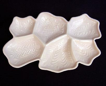 Jeannette Shell Pink 6-Part Venetian Divided Relish Tray