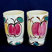 Pair of Purinton Pottery Fruit Water Tumblers