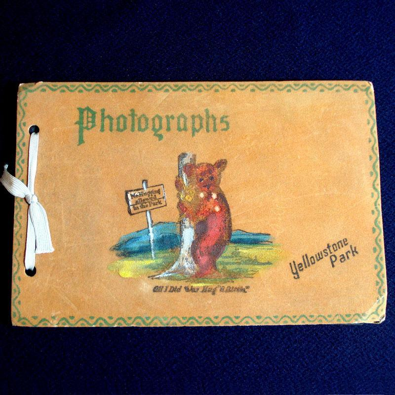 1930s Yellowstone Park Painted Leather Photo Album
