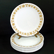 6 Corelle Butterfly Gold Dinner Plates