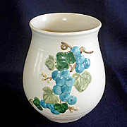 Metlox Sculptured Grape Canister or Vase
